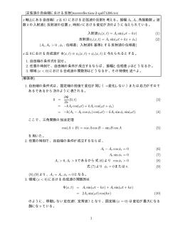 [正弦波の自由端における反射]wavereflection-2