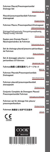 Fuhrman Pleural/Pneumopericardial Drainage Set