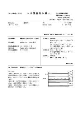 特開2002-203977号公報(高効率シリコン-ゲルマニウム太陽電池)