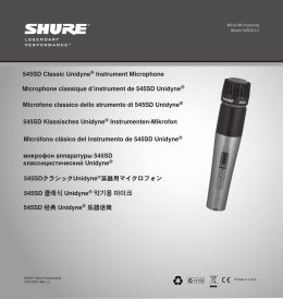 Shure 545SD Microphone User Guide