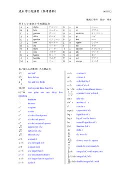 ギリシャ文字と数式の読み方