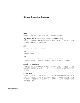 Silicon Graphics Glossary