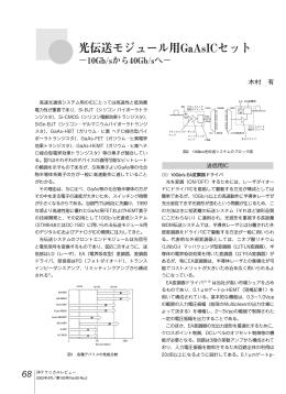 光伝送モジュール用GaAsICセット