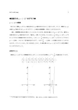 掟破りの y = (−2)x のグラフ