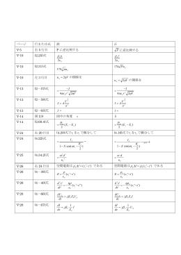 ページ 行または式 誤 正 V-5 右 5 行目 P に逆比例する P に逆比例する