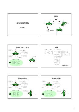 線形変換と図形 図形 図形の平行移動 写像 図形の回転 図形の回転