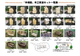 「木根館」木工教室キット一覧表