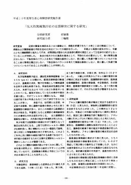 平成ー 〇年度厚生省心身障害研究報告書