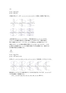 (1) x (t) sin (n t) y (t) sin (t) の場合を考えよう。まず, n 1, 2, 3, 4, 5, 6