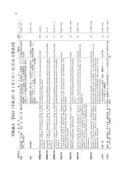 学 術 論 文 【 2013( 平 成 25) 年 1 月 1 日 ∼ 12 月 31 日 発 表 分 】