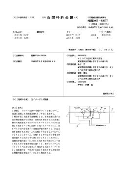 (19)【発行国】日本国特許庁(JP) (12)【公報種別】公開特許公報(A) (11
