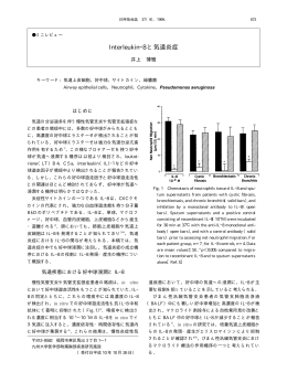Interleukin―8 と気道炎症