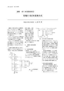 """""""連載AD・DA変換技術   各種のAD/DA変換方式,"""" JAS"""