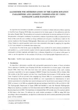 ALGORITHMFORDETERMINATIONOFTHEEARTHROTATION