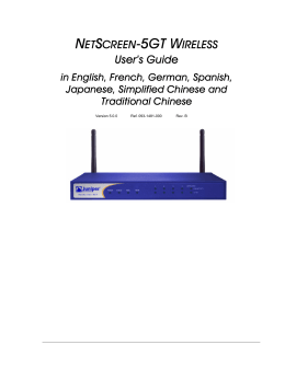 NetScreen-5GT Wireless User`s Guide