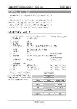 シューティングゲームの制作(p.2-38)