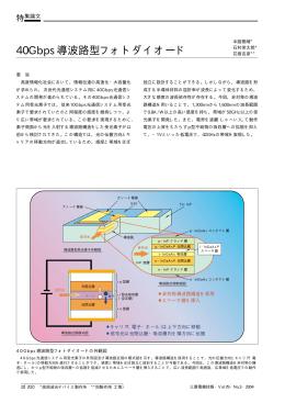 40Gbps導波路型フォトダイオード(PDF:22.0KB)