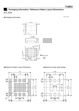 CL-2025 Packaging Information / Reference Pattern Layout