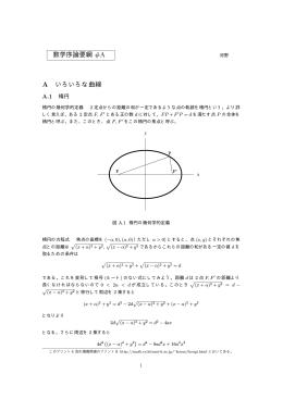 数学序論要綱 #A A いろいろな曲線
