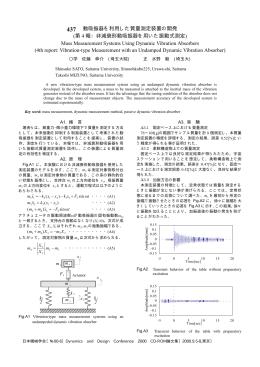 動吸振器を利用した質量測定装置の開発