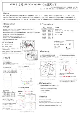 VERA による IRAS20143+3634 の位置天文学
