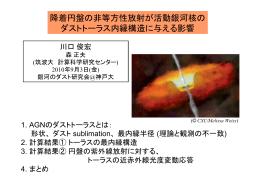 降着円盤の非等方性放射が活動銀河核の ダストトーラス内縁構造に