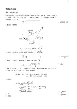 微分法の公式
