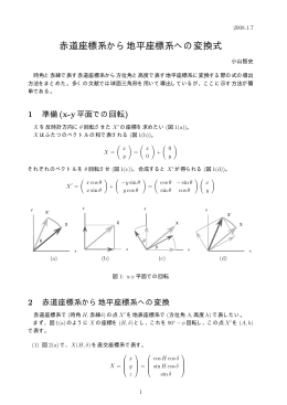 小山智史: 赤道座標系から地平座標系への変換式