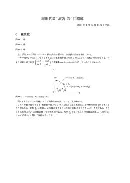 線形代数I演習第0回略解