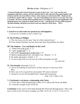 Phil 4:2-7 outline