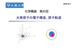 水素原子の電子構造、原子軌道