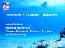 Prof Mori (Research on Coastal Disasters) [DPRI]