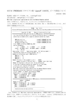 NaNO2におけるサイクル数の原子密度への影響の例