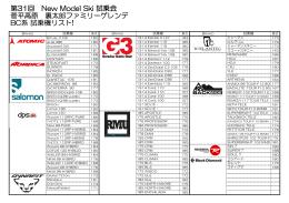 2013 菅平試乗会 BC系試乗機リスト