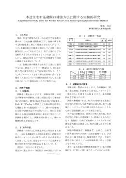 木造住宅布基礎開口補強方法に関する実験的研究