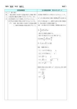 教科:数学 科目:数学Ⅰ 様式1 ) ( ) ( 3 1 5 5