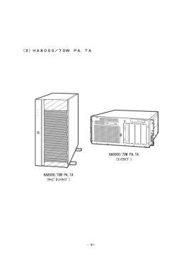 (2)HA8000/70W PA,TA HA8000/70W PA,TA (キャビネットタイプ
