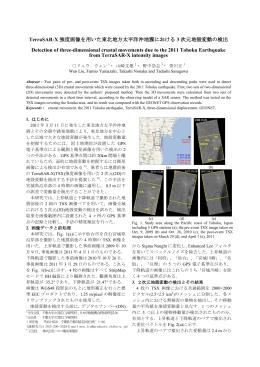 TerraSAR-X 強度画像を用いた東北地方太平洋沖地震