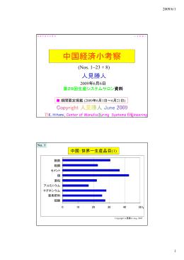 中国経済小考察