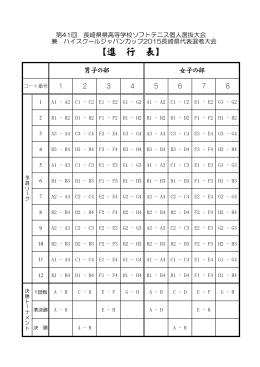 【進 行 表】