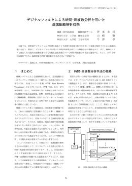 デジタルフィルタによる時間 - 神奈川県産業技術センター