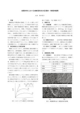 金属材料における破断面性状の巨視的・微視的観察