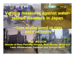 Various measures against water- related disasters in Japan