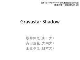 Gravastar Shadow / 坂井 伸之