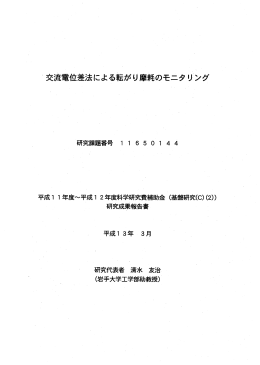 Page 1 Page 2 はしがき 本報告書は平成ー ー年度及び平成ー 2年度