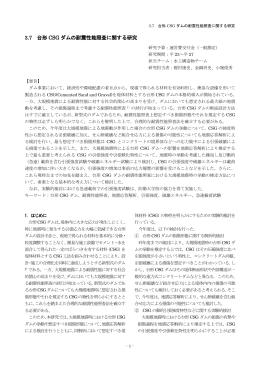 3.7 台形 CSG ダムの耐震性能照査に関する研究