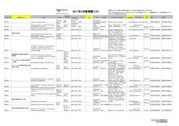 2011年4月新搭載リスト