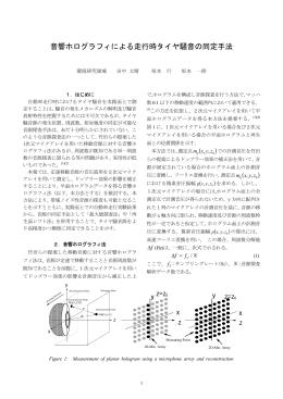 音響ホログラフィによる走行時タイヤ騒音の同定手法