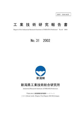 工 業 技 術 研 究 報 告 書