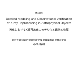Detailed Modeling and Observational Verification of X-ray